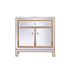 29 in. mirrored cabinet in antique gold