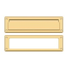 "Mail Slot 13 1/8"" with Interior Frame - PVD Polished Brass"