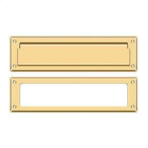 """Mail Slot 13 1/8"""" with Interior Frame - PVD Polished Brass Product Image"""