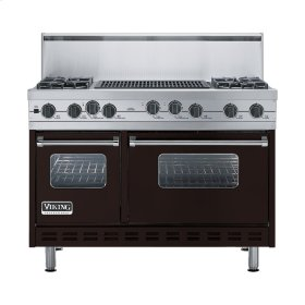 "Chocolate 48"" Sealed Burner Self-Cleaning Range - VGSC (48"" wide, four burners & 24"" wide char-grill)"