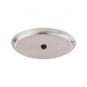 Aspen II Oval Backplate 1 3/4 Inch - Brushed Satin Nickel