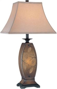Table/nite Lamp - ANT.GOLD Body/fabric, E27 Cfl 32w & C 7w