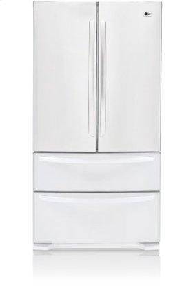 Four door refrigerator with a sleek, clean looking exterior