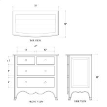Carlyle 4 Drawer Bow Front Chest