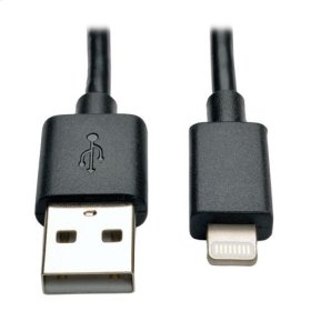 USB Sync / Charge Cable with Lightning Connector - Black, 10 Piece Bulk Pack, 10-in.