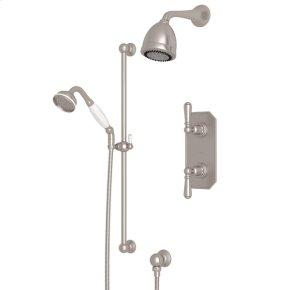 Satin Nickel Edwardian U.KIT52L Thermostatic Shower Package with Edwardian Metal Lever
