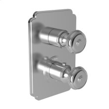"Polished Nickel - Natural 1/2"" Square Thermostatic Trim Plate with Handle"