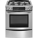 "Slide-In Dual-Fuel Range with Convection, 30"", Euro-Style Stainless Handle Product Image"