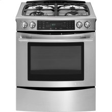 "Slide-In Dual-Fuel Range with Convection, 30"", Euro-Style Stainless Handle"