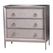 Mancini Mirrored Small Cabinet 3 Drawers, Cream/Silver Product Image