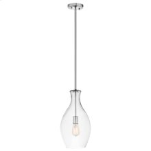 Everly Collection Everly-1 Light Pendant  Chrome
