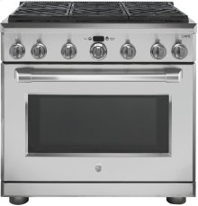 """GE Cafe™ Series 36"""" Dual Fuel Professional Range with 6 Burners (Natural Gas)"""