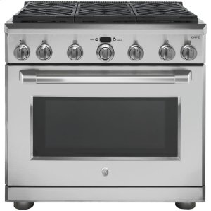 "GE Cafe36"" Dual Fuel Professional Range with 6 Burners (Natural Gas)"