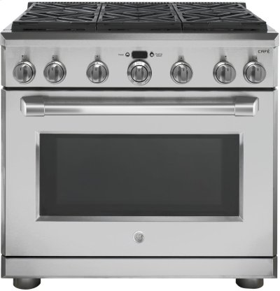"GE Cafe™ Series 36"" All Gas Professional Range with 6 Burners (Natural Gas) Product Image"