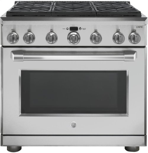 """GE Café Series 36"""" All Gas Professional Range with 6 Burners (Natural Gas)"""