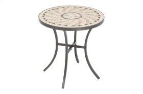 "Boracay 20"" Round Side Table w/ Ceramic Tile Top & Iron Base"