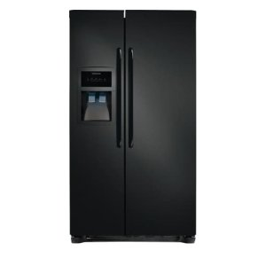 25.6 Cu. Ft. Side-by-Side Refrigerator - BLACK
