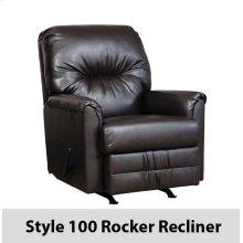 SanMarChocolate 100RCL - 100 Rocker Recliner