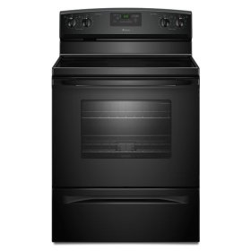 4.8 cu. ft. Smoothtop Electric Range with Radiant Elements - black