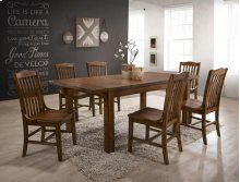 CROWN MARK 2286T-4078 2286S Lucille Dining Group Table & 4 Chairs