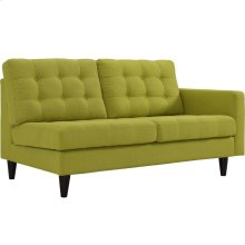 Empress Right-Facing Upholstered Fabric Loveseat in Wheatgrass