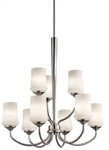 Aubrey 9 Light Chandelier Brushed Nickel