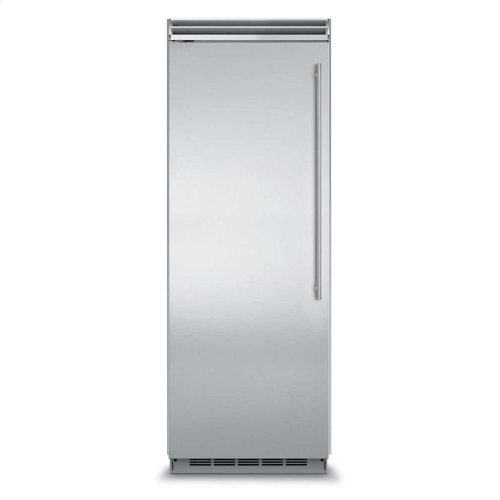 "Professional Built-In 30"" All Refrigerator - Solid Stainless Steel Door - Left Hinge, Slim Designer Handle"