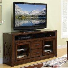 Windridge - Glass Door TV Console - Sagamore Burnished Ash Finish