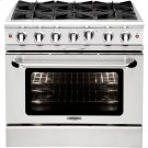 "36"" Gas Range with 6 Open Burners 25K BTU Product Image"