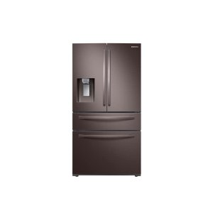 Samsung22 cu. ft. Food Showcase Counter Depth 4-Door French Door Refrigerator in Tuscan Stainless Steel