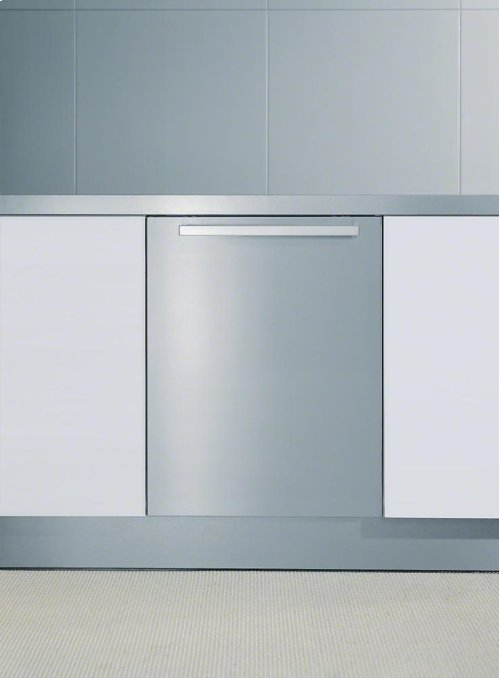 GFVi 609/77-1 Int. front panel: W x H, 24 x 30 in Clean Touch Steel with handle in Classic Design for integrated dishwashers.