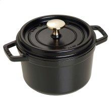 Staub Cast Iron 1.25-qt round Cocotte, Black