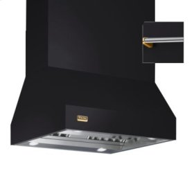 "54"" Wide Island Hood, Brass Accessory Rail on front and back"