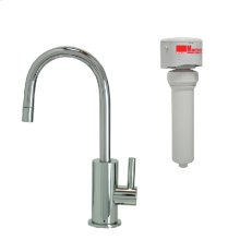 Francis Anthony Collection - Point-of-Use Drinking Faucet with Contemporary Round Base & Handle & Mountain Pure® Water Filtration System - Polished Chrome