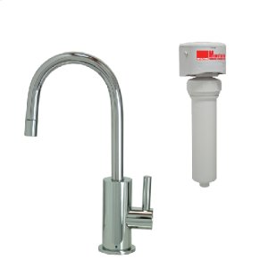 Francis Anthony Collection - Point-of-Use Drinking Faucet with Contemporary Round Base & Handle & Mountain Pure® Water Filtration System - Polished Chrome Product Image