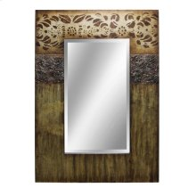 Handpainted framed rectangular mirror