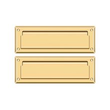 """Mail Slot 8 7/8"""" with Back Plate - PVD Polished Brass"""
