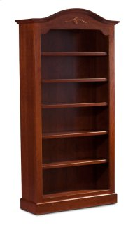 "Classic Arch Top Wide Bookcase, Classic Arch Top Wide Bookcase, 6-Adjustable Shelves, 45""w Product Image"