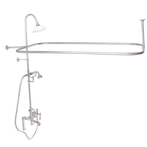 Code Rectangular Shower Unit - Lever with Finials / Polished Chrome