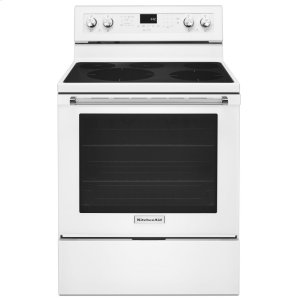 Kitchenaid30-Inch 5-Element Electric Convection Range - White