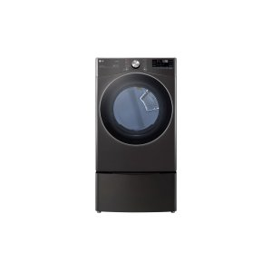 LG 鸭博娱乐s7.4 cu. ft. Ultra Large Capacity Smart wi-fi Enabled Front Load Dryer with TurboSteam™ and Built-In Intelligence