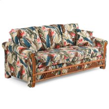Queen Sleeper Sofa Pecan Glaze Satin 683Q