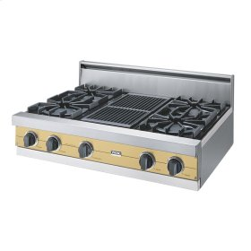 "Golden Mist 36"" Open Burner Rangetop - VGRT (36"" wide, four burners 12"" wide char-grill)"