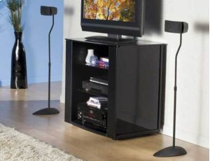 Black Home Theater Series Adjustable height for satellite speakers