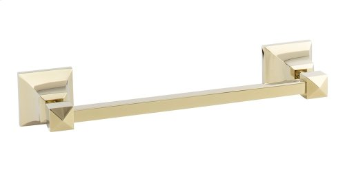 Gratitude Bath Towel Bar 12 Inch Single - French Gold