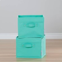 Canvas Baskets, 2-Pack - Turquoise