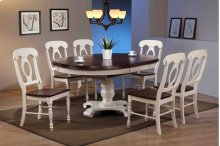 Sunset Trading 7 Piece Butterfly Leaf Dining Table Set with Napoleon Chairs - Sunset Trading