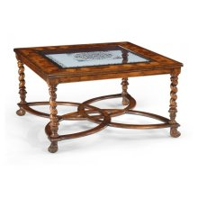 "Square Oyster & glomise Coffee Table (40"")"
