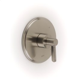 Shower Trim Plate with Handle Wallace (series 15) Satin Nickel