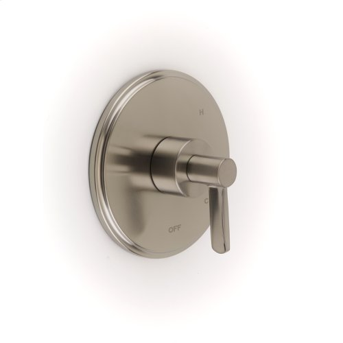 Shower Trim Plate With Handle Darby Series 15 Satin Nickel